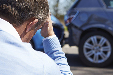 Man Involved In A Car Accident - car accident injury orlando